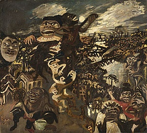 John PERCEVAL 'Negroes at night' (1944) Oil on canvas, NGA Collection