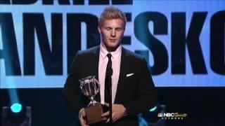 Gabriel Landeskog wins the Calder Memorial Trophy as best rookie!