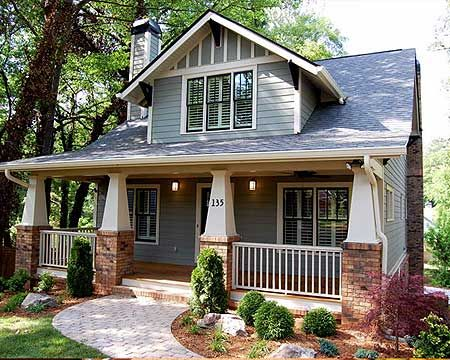 Plan 50102ph classic craftsman cottage with flex room House plans craftsman bungalow style