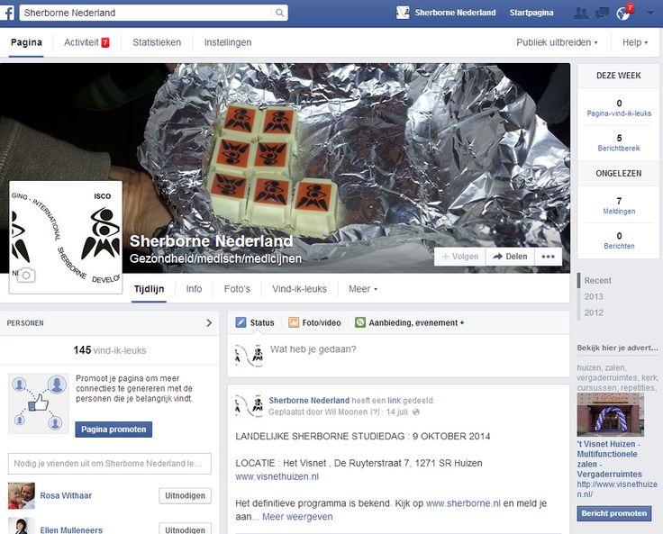 Facebook pagina Sherborne Nederland.