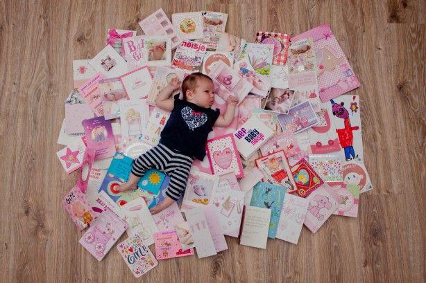Geboortekaarten, baby, kraamweek, geboorte, meisje, roze, bedanken, gelukwensen, felicitaties