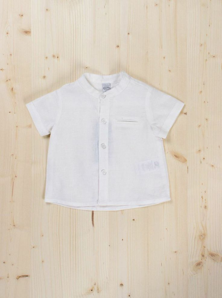 White Short Sleeve Shirt - Dots + Knots