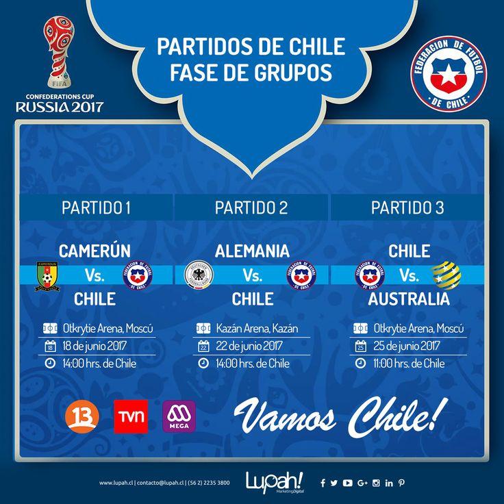 Por si aun no sabias cuando son los partidos de 🇨🇱️ Acá te dejamos el calendario de los partidos de la selección por fase de grupos. #VamosChile 🇨🇱️ #CopaConfederaciones 🏆 🇨🇱️🇨🇲️🇩🇪️🇭🇲️