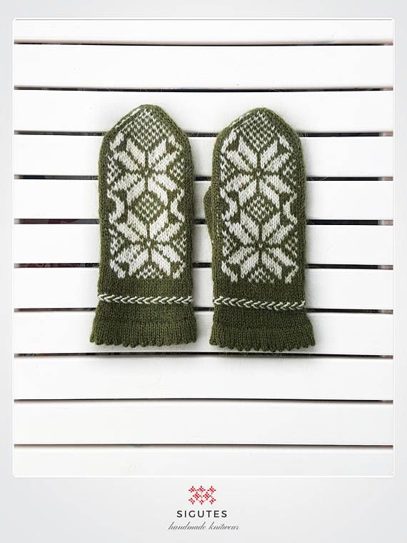 Hey, I found this really awesome Etsy listing at https://www.etsy.com/listing/547057318/hand-knitted-green-mittens-hills-of