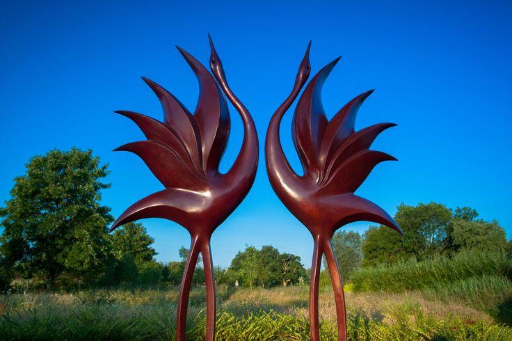Dancing Cranes by Simon Gudgeon