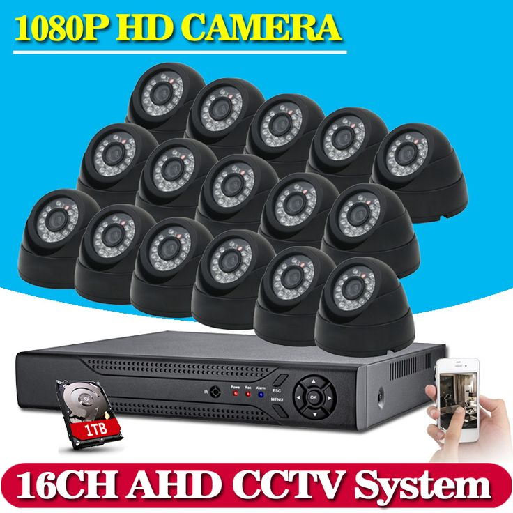 ==> [Free Shipping] Buy Best 16CH CCTV System Kit AHD DVR Dome indoor 2.0mp hd Cameras with IR CUT Home Surveillance System 16 Channel DVR Kit Online with LOWEST Price | 32741424951