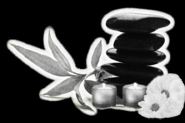 Piedras blanco-negro spa