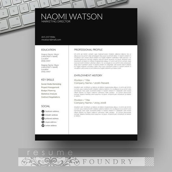 resume templates word template modern free download