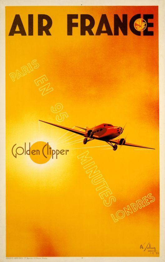 Air France, Golden Clipper, Paris-Londres en 95 minutes by Solon Albert / 1933