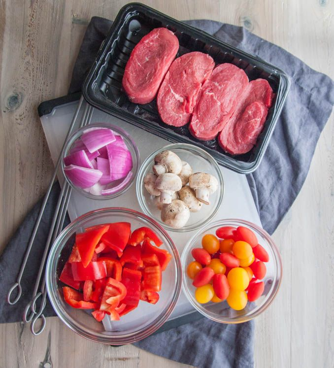 Sweet and Spicy Beef and Vegetable Kabobs