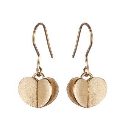 Kalevala Koru / Kalevala Jewelry / Nuppu-korvakorut / Dearest earrings / Design Taru Harmaala Chaloff / Bronze