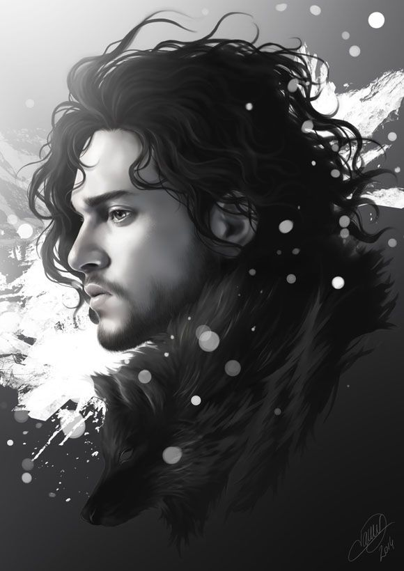 Daenerys Targaryen and Jon Snow - Created by Nicolas Jamonneau Available for sale at his Society6 Shop.
