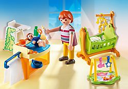 Poppenhuis babykamer met wieg PLAYMOBIL® Nederland