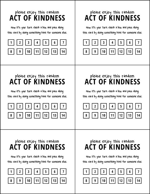 Lds Girl S Camp Service Project Idea Random Act Of Kindness Pass