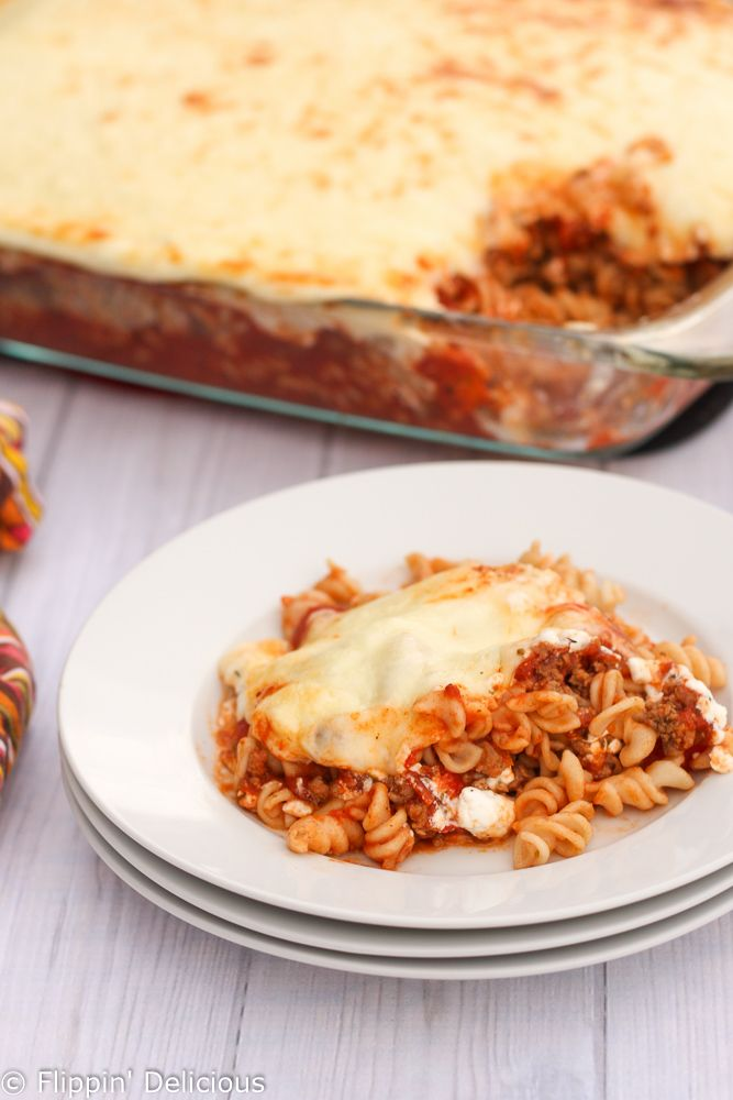 This easy gluten free lasagna casserole quickly becomes a family favorite. My family calls it dump lasagna, because you just dump it all in the casserole.