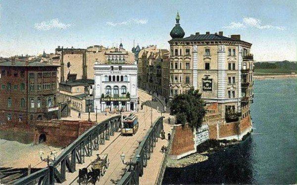 Poznan Poland, Most Chwaliszewski - istniał od czasów średniowiecza do 1968r.