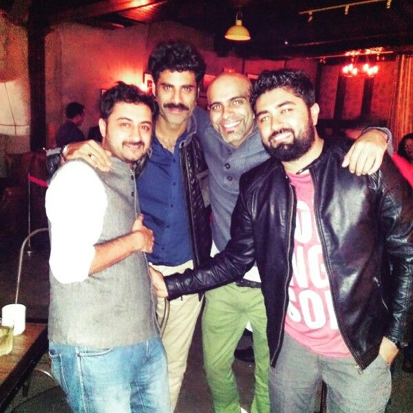 So met these guys @ my show. What a day it was. #excited #raghu #pradhuman #terebinladen #sikandar #kher #scafe #chandigarh
