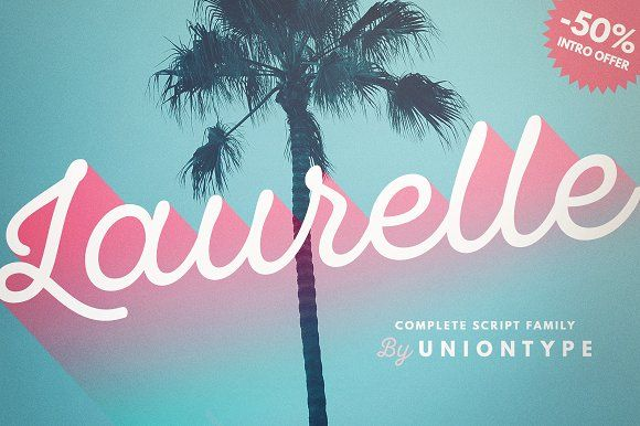Laurelle {Intro Offer -50%} by Uniontype on @creativemarket