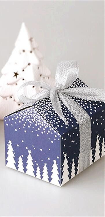"""8*7*8CM (3.15*2.76*3.15"""") 10PCS Christmas Gifts Bags Wedding Paper Bag Chocolate Party Snack Cake Cookies Packaging Candy Box"""