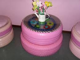 Resultado de imagem para reciclagem de pneus artesanato