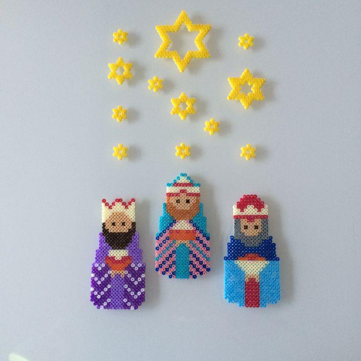 Three Wise Men hama beads by  Lene Holm Gamborg - Pattern: https://www.pinterest.com/pin/374291419011785910/