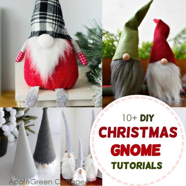 10 Diy Gnomes Christmas Gnome Tutorials Applegreen Cottage Christmas Diy Christmas Gnome Christmas Decor Diy