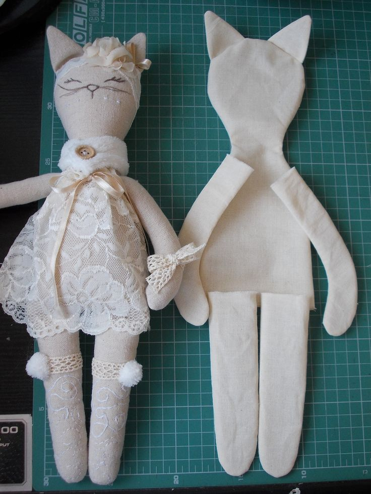Pdf Sewing Pattern For Blank Cat Doll For Crafting 37