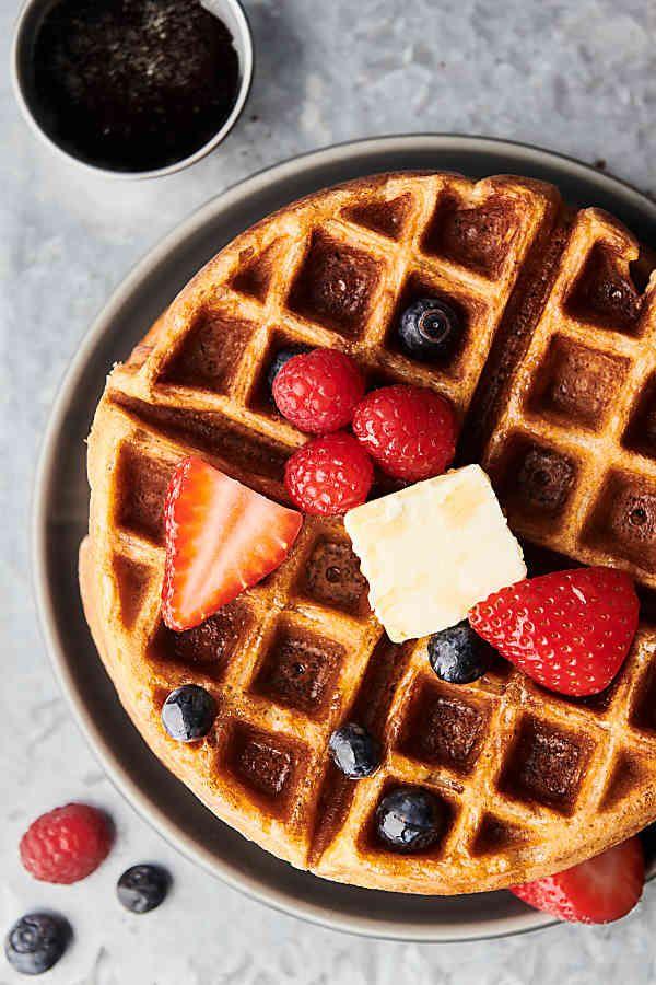 Waffle Recipe Fluffy Crispy Buttermilk Waffles Recipe In 2020 Waffle Recipes Buttermilk Recipes Waffles