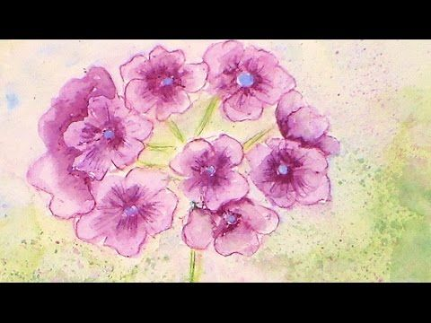 Today I will show you how to paint a lovely purple geranium flower with watercolor pencils. The photo I am using is by April Dupree and can be found on Paint...