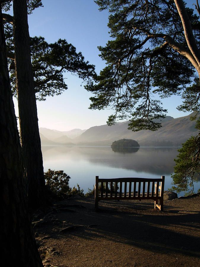 View From Friars Crag in the Lake District, UK, what a wonderful place to sit