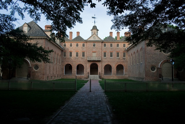 College of William and Mary in Williamsburg, Virginia; many of America's founding fathers went to this university