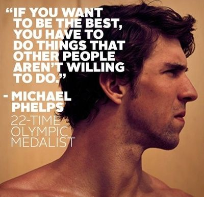 I hate it when people take swimming for granted. Heck, I've been swimming for as long as I remember and still consider myself amateur. I takes hard work that requires strong focus. What I'm saying is that if you dream it, it may happen. But if you work for it, it will happen.