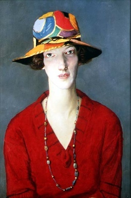 The Jazz Hat  (The Harlequin Hat) c.1920 by William Strang (1859-1921)