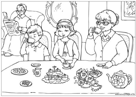 family theme preschool coloring pages - photo#19