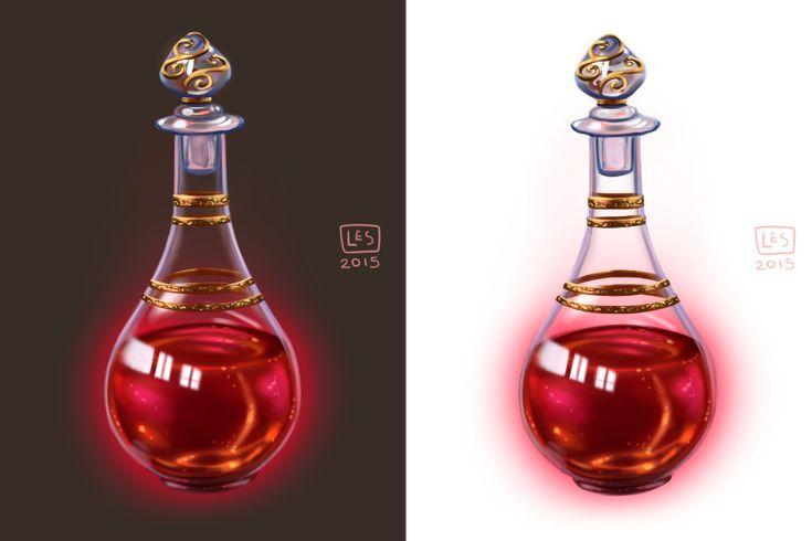 Small Items__Potion Vial by BlackBirdInk.deviantart.com on @DeviantArt