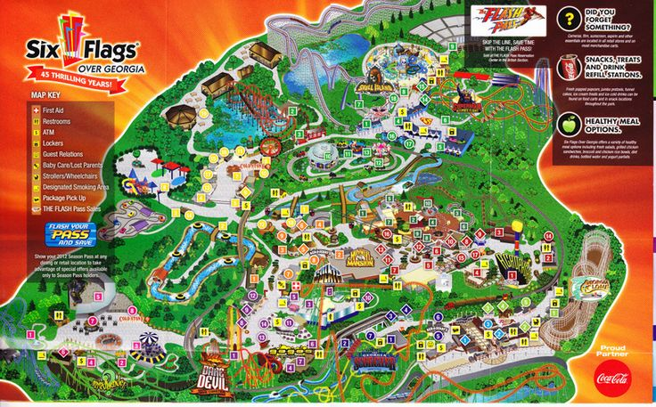 Six Flags Map Pics Photos Six Flags Over Georgia Park Map - Georgia map key