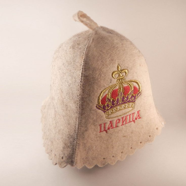 """Ukrainian wool felt hat """"Queen"""" will be a perfect match for bathhouse or sauna as long as a great gift for St. Valentine's Day.  Felt, that it made of, provides sufficient airflow, protects head vessels from temperature difference and hair from drying out. Such fabric perfectly absorbs and evaporates moisture."""