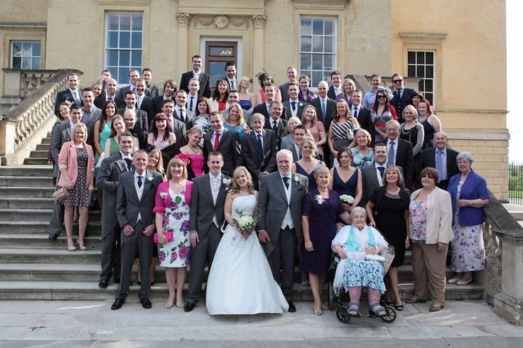Group wedding photograph at Danson House