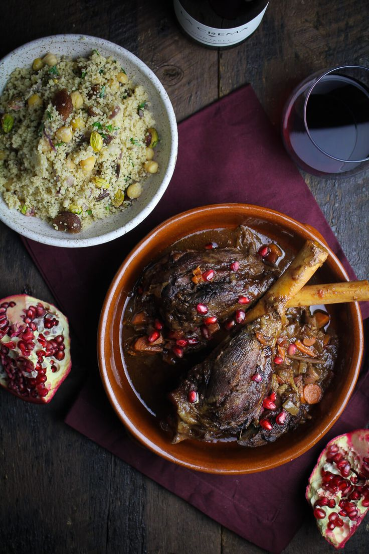 Moroccan Dinner: Moroccan Braised Lamb Shanks with Royal Couscous