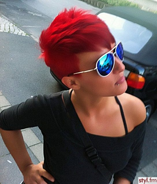 A red hair color paired with a short and sassy haircut can simply look great. Here are our favorite short red haircut ideas.