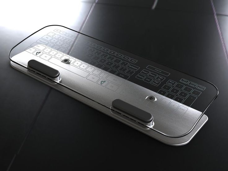 Wireless Glass Multi-Touch Keyboard. Way cool!