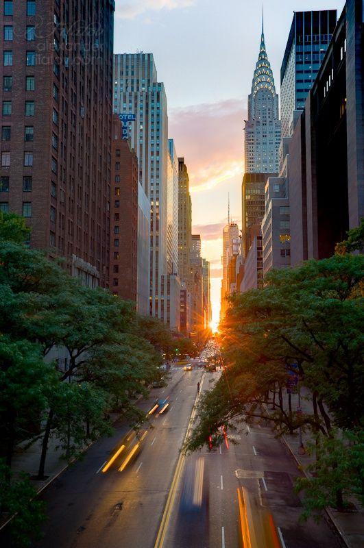 Beautiful Sunset in Manhattan
