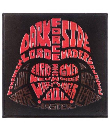 Darth Vader Word Art Embossed Tin Sign