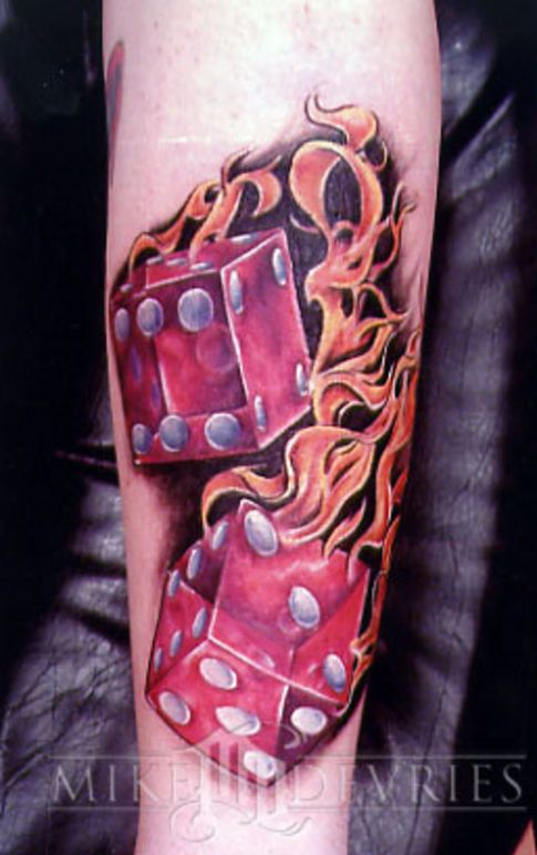 Dice Tattoo Designs: Risk-Takers and Gamblers - Tattoo ...