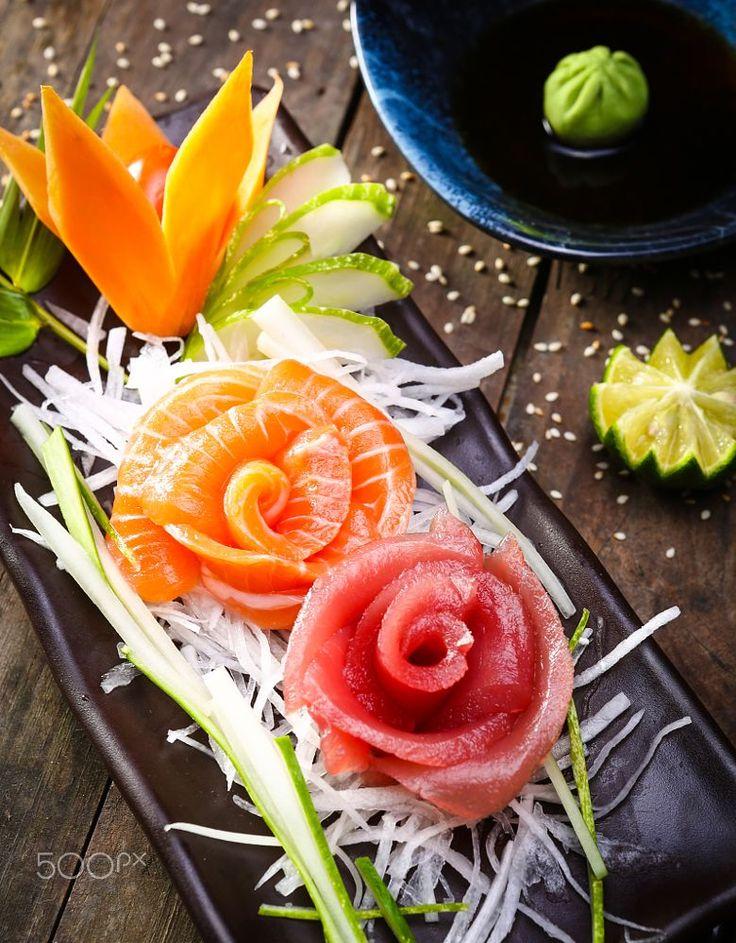 raw fish salad, sashimi japanese by Linh Tran on 500px
