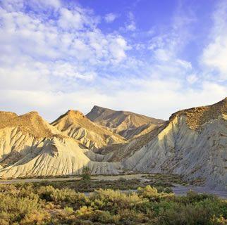Tabernas desert landscape
