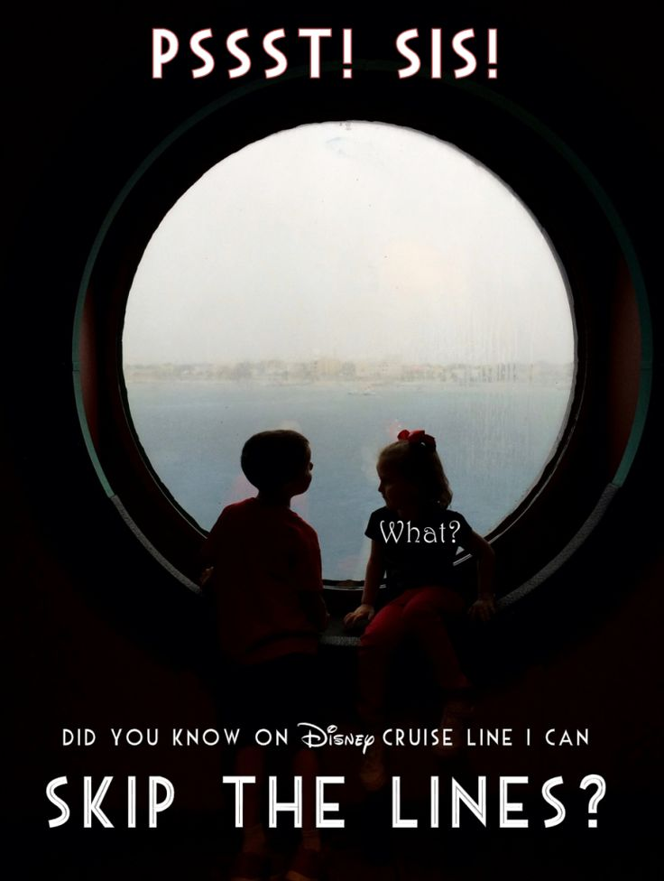 Disney Cruise Line How to Skip the Line