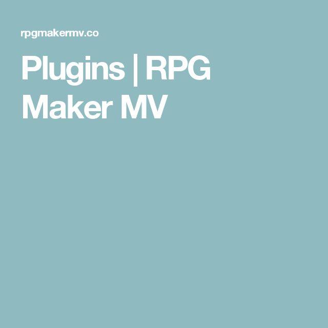 Plugins   RPG Maker MV