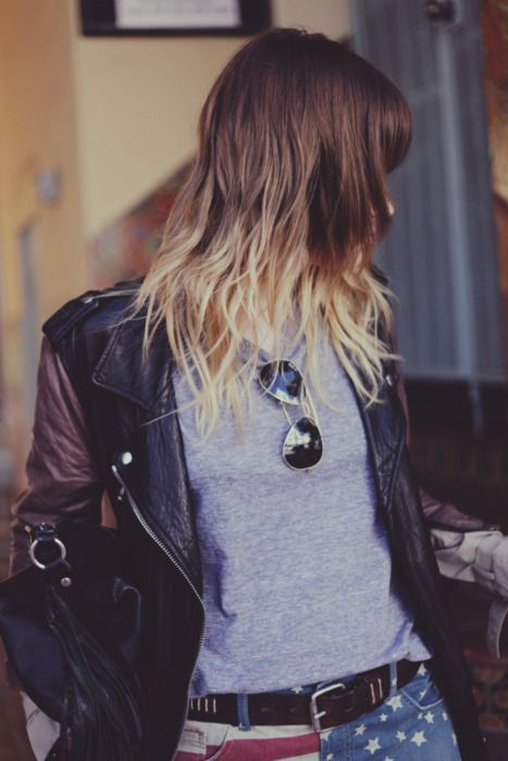 the only time i wish i had long hair. i want ombre. (also those pants, obviously.)