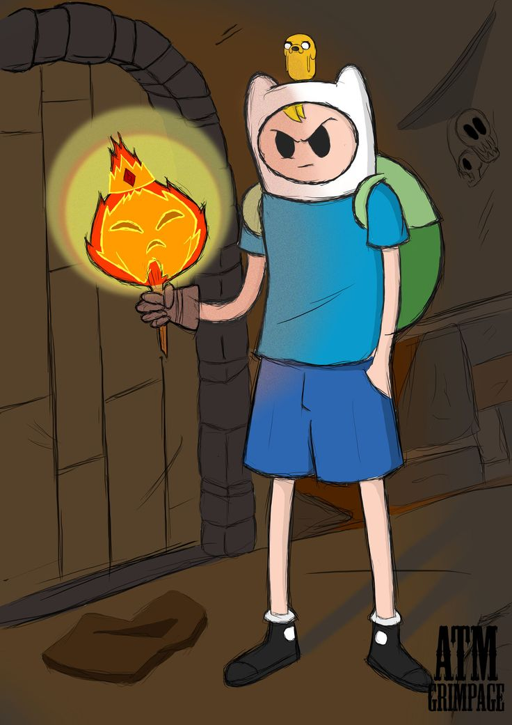 finn the human, jake the dog & flame king(evil evil evil...), Alexis Moeketsi on ArtStation at https://www.artstation.com/artwork/k4b9d